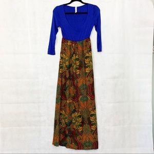 YAHADA Boho Scoop Neck Dress